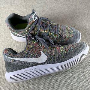 Nike Gray Rainbow Lunarlon Sneakers Size 8.5